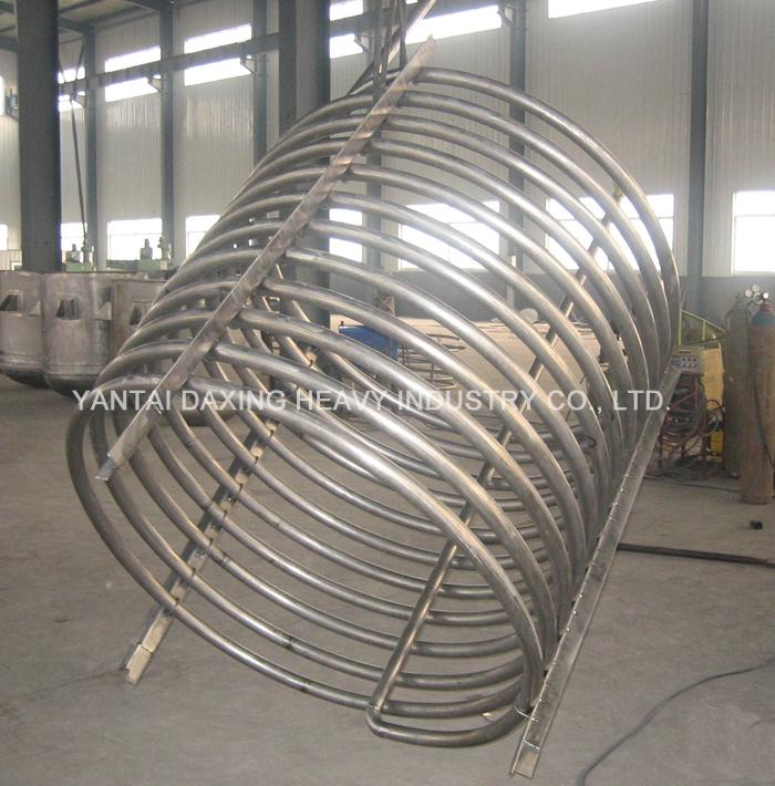 Titanium coil pipe