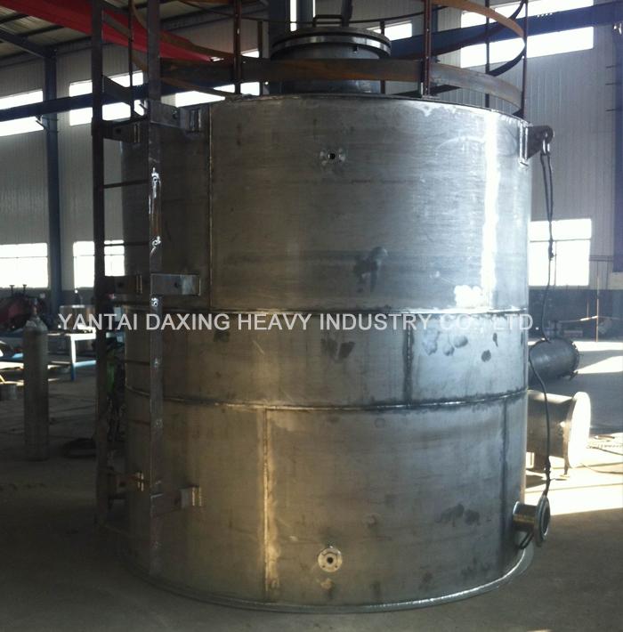 Titanium alloy anolyte storage tank